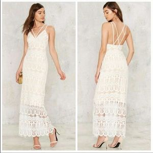 NEW Lioness Emilia Nasty Gal Lace Boho Maxi Dress